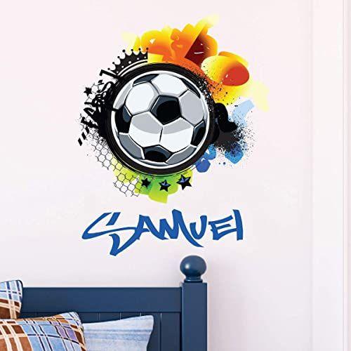 Spersonalizowana naklejka z imieniem, samoprzylepna, możliwość personalizacji, do pokoju dziecięcego, 2 arkusze o wymiarach 30 x 30 cm i 50 x 30 cm, wielokolorowa
