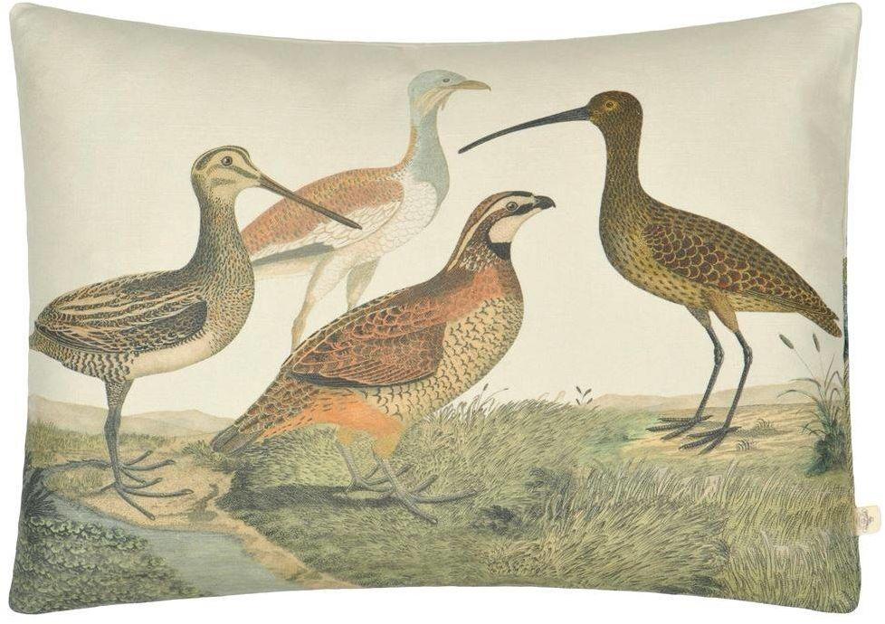 Poduszka dekoracyjna John Derian Birds of a Feather Parchment