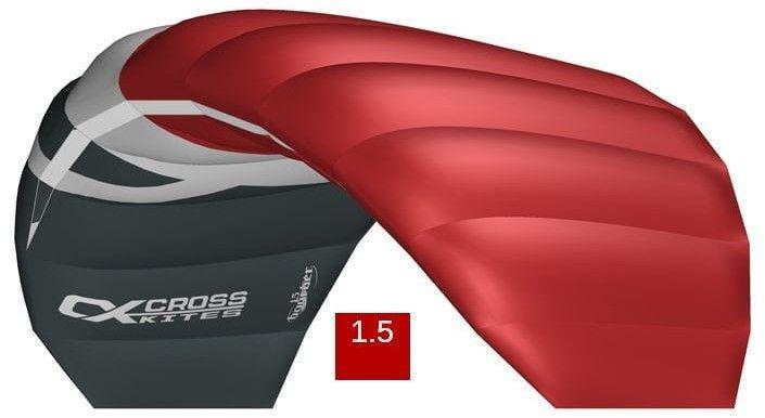 Latawiec Cross Kites Boarder v2 1.5 m czerwony