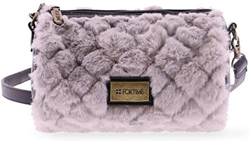 FOR TIME Furry torba na ramię, okrągła, 20 x 12 x 12 cm, szary (szary) - 0KI1511