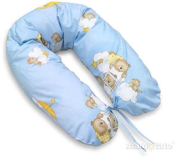 MAMO-TATO Poduszka dla ciężarnych kobiet Drabinki z misiami na błękitnym tle
