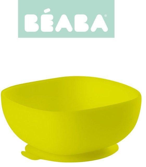 Beaba silikonowa miseczka z przyssawką yellow