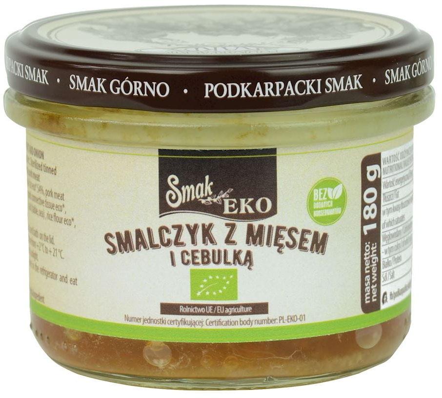 Smalczyk z mięsem i cebulką bio 180 g - smak eko