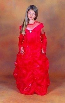 Strój karnawałowy Bella Piękna-czerwona Sezamik