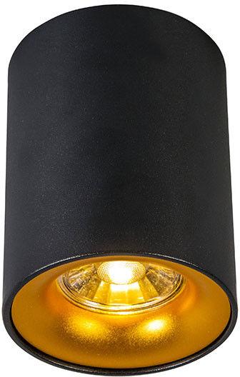 QAZQA Nowoczesny spot czarny ze złotym - Ronda