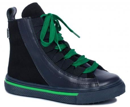 Bartek W-44002 OCE trzewiki, trampki, ocieplane dla chłopców, czarne/ zielone