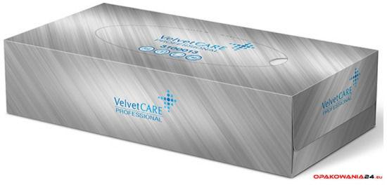 Chusteczki uniwersalne celuloza, 2 warstwy, białe, BOX (100sztuk) VELVET PROFESSIONAL 3100013