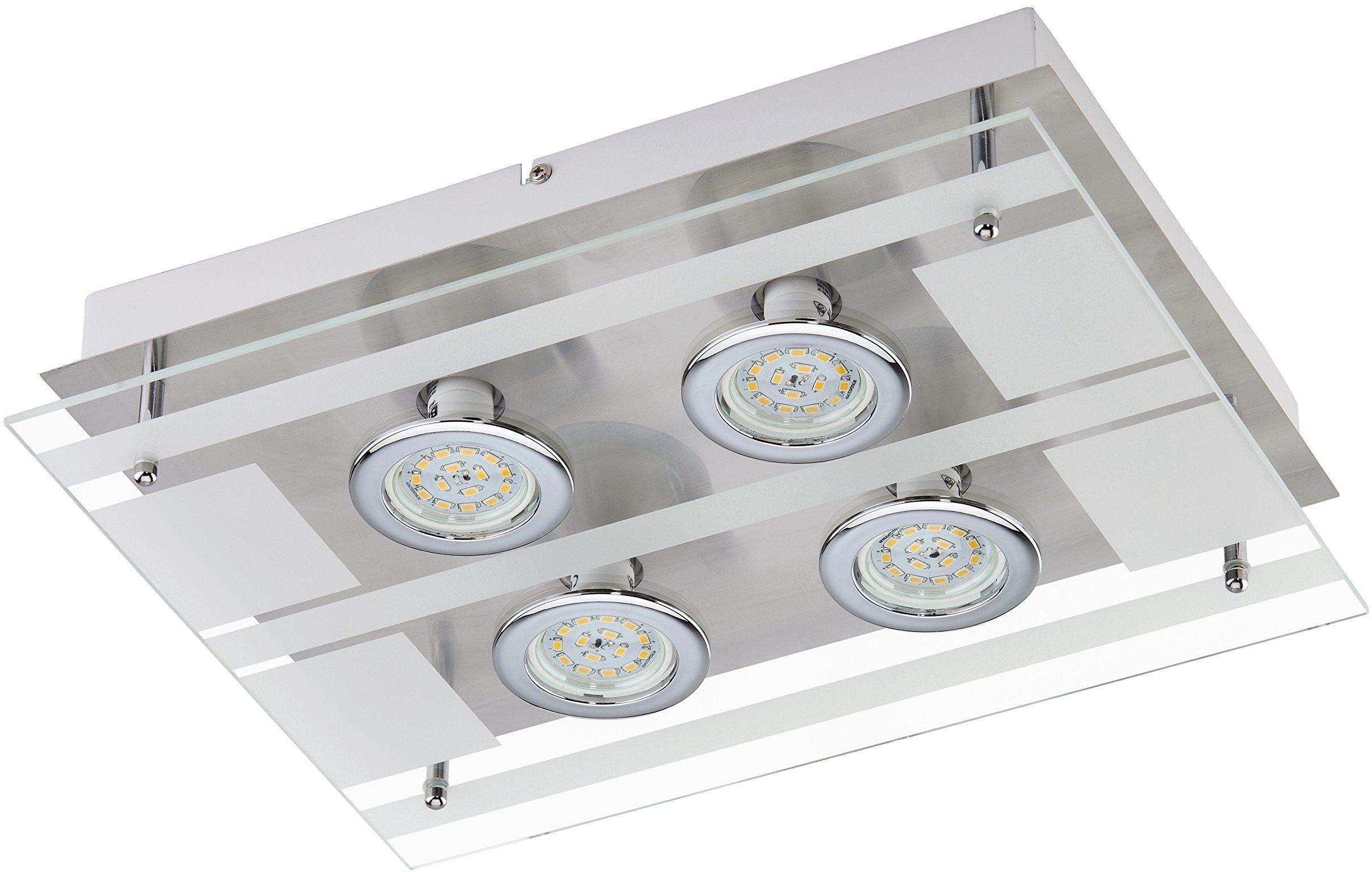 Briloner Leuchten Lampa ścienna LED 4 x 5 W, 400 lm, matowy nikiel 3552-042