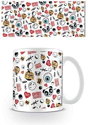 DC Comics filiżanki do kawy, ceramiczne, wielokolorowe, 7,9 x 11 x 9,3 cm