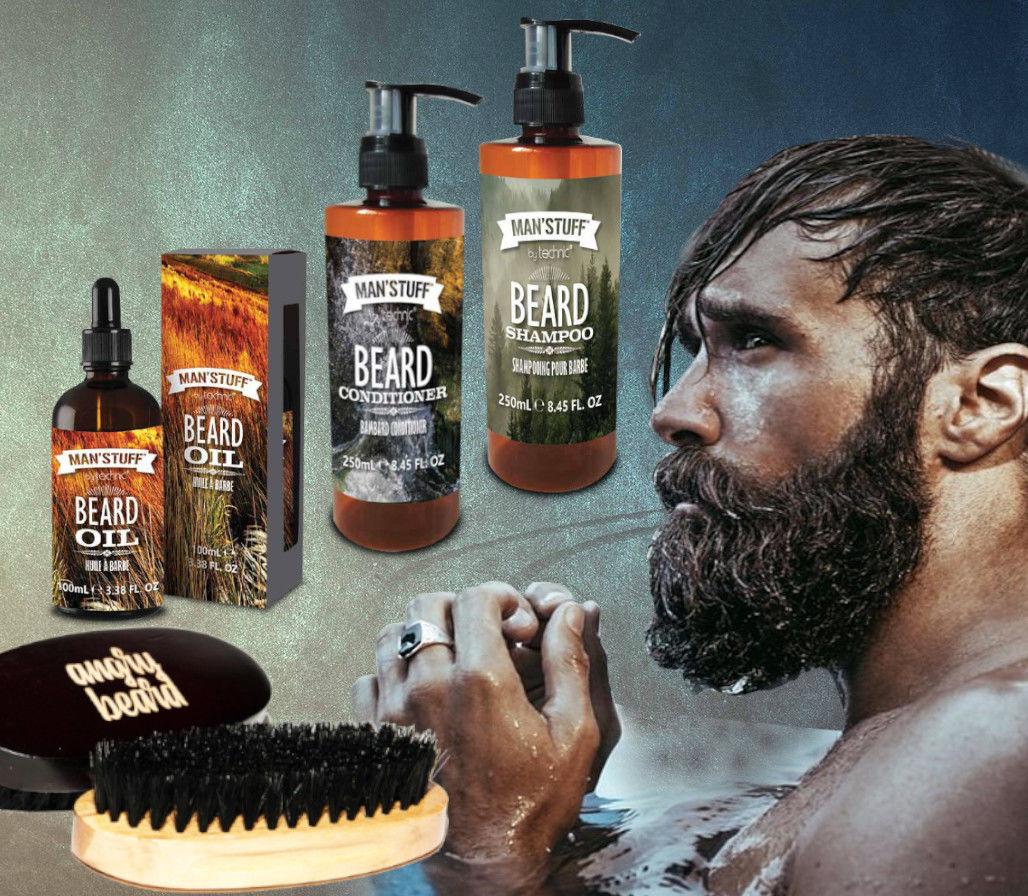 Man''stuff Zestaw DO BRODY + Szczotka Angry Beard