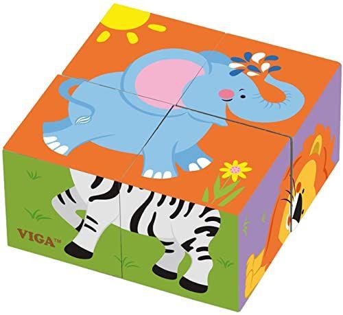VIGA 50836 Toys puzzle w kształcie kostki, wielokolorowe