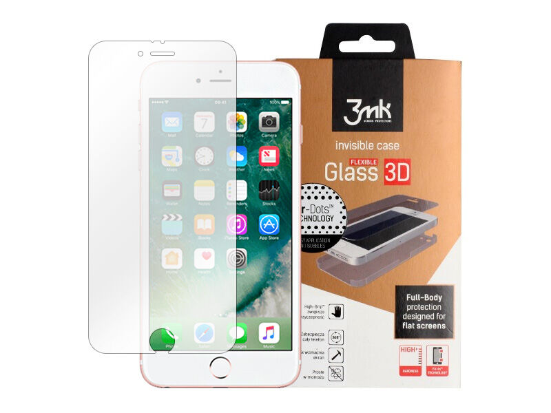 Apple iPhone 6s - szkło hartowane 3MK Flexible Glass 3D High Grip