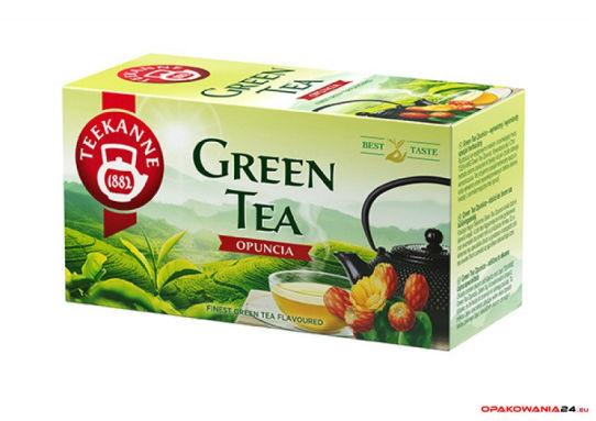Herbata TEEKANNE GREEN TEA OPUNCJA 20t zielona