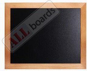 Tablica kredowa czarna 120x90 cm rama drewniana lakierowana