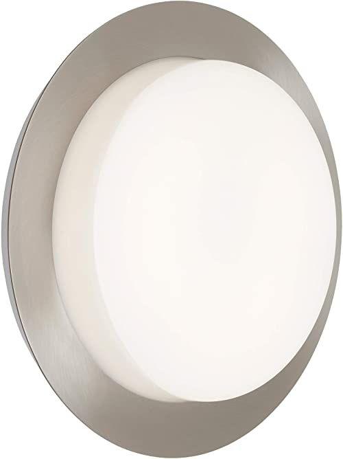 Briloner Leuchten - Lampa zewnętrzna LED, lampa zewnętrzna, lampa ścienna zewnętrzna, IP44, 9 W, 900 lumenów, 4000 kelwinów, biało-srebrny, 180 x 51 mm (śr. x wys.), 3004-012