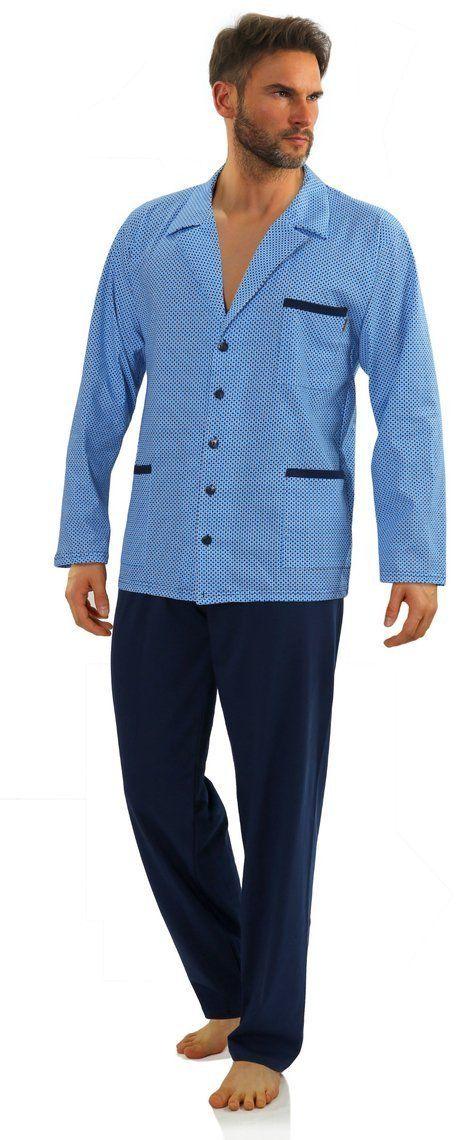 Bawełniana rozpinana piżama męska Sesto Senso 2210-15