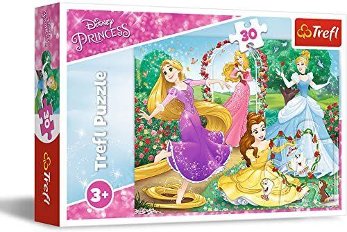 Trefl Być księżniczką Puzzle 30 Elementów Disney Księżniczki o Wysokiej Jakości Nadruku dla Dzieci od 3 lat