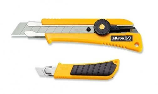 Nóż tnący OLFA L-2 - z antypoślizgową nakładką z gumy (L-2)
