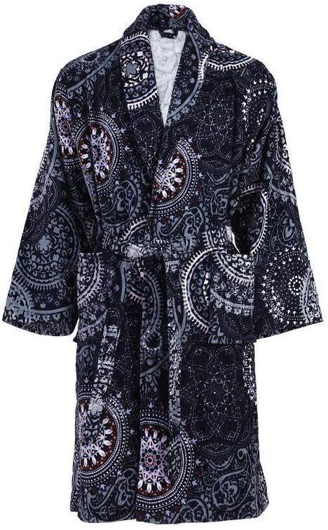 One Couture Szlafrok kąpielowy, wielokolorowy/niebieski, rozmiar XL