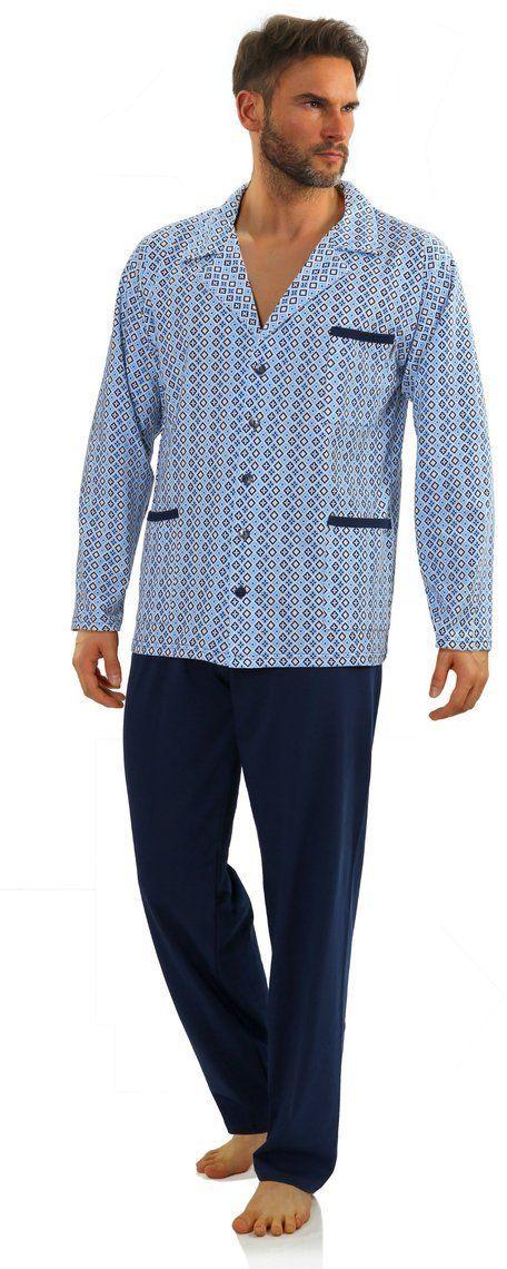 Bawełniana rozpinana piżama męska Sesto Senso 2210-16