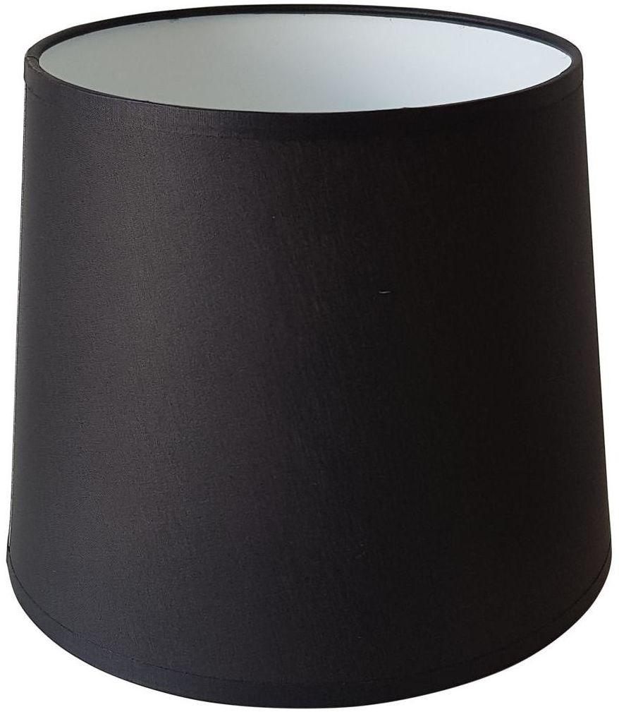 Abażur 9987 owalny 16-14 x 16 cm tkanina czarny E27 TK LIGHTING