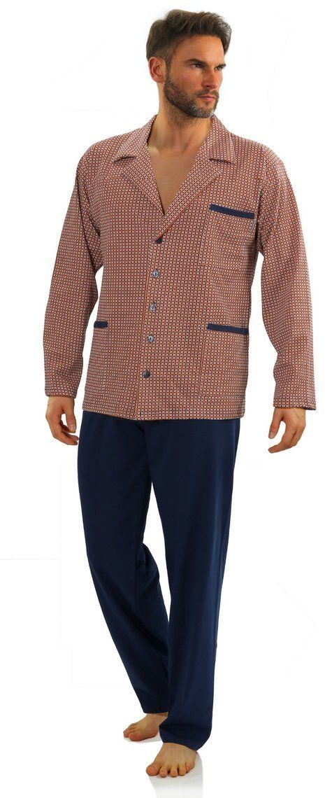 Bawełniana rozpinana piżama męska Sesto Senso 2385-11