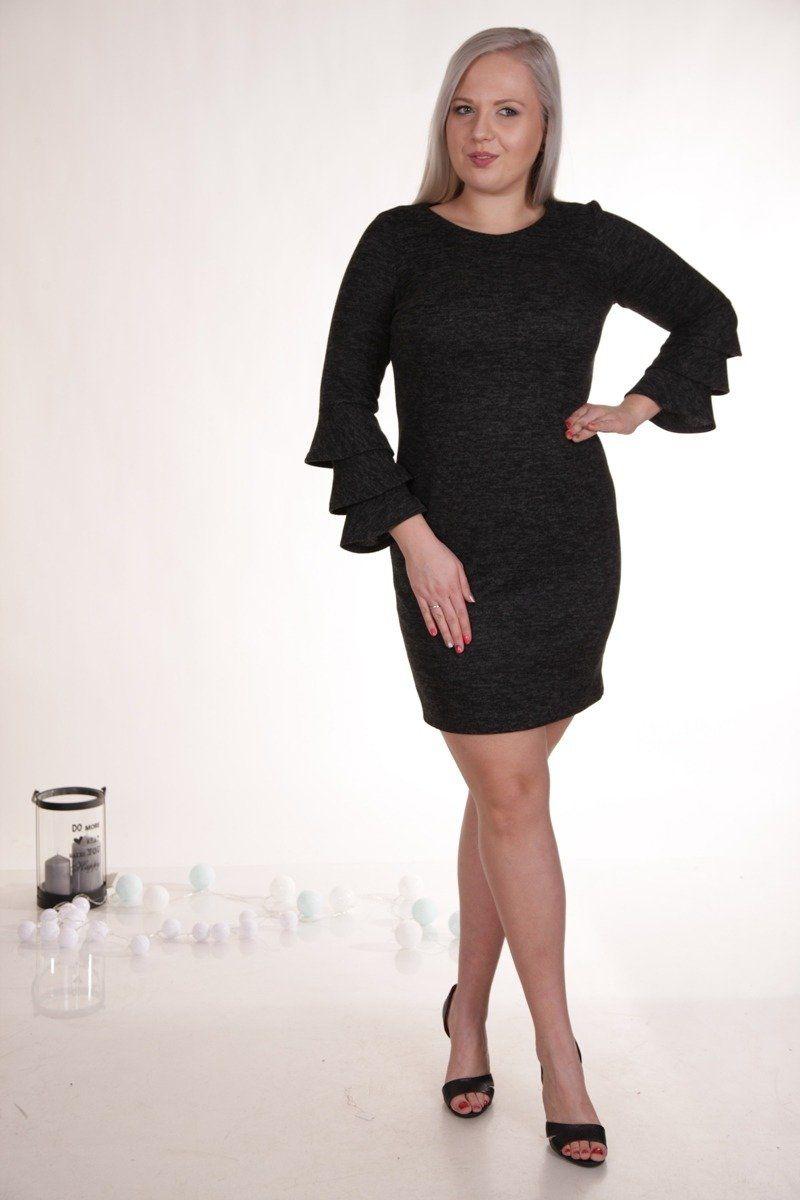 Sukienka FSU894 CZARNY melanż