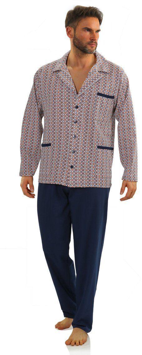 Bawełniana rozpinana piżama męska Sesto Senso 2385-15