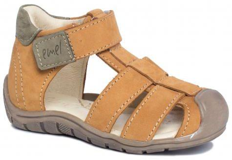 EMEL E2187A-3 ROCZKI sandałki sandały profilaktyczne dziecięce zabudowane - miodowy