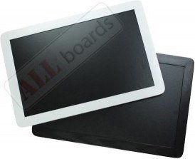 Tablica kredowa czarna 90x60 cm rama drewniana smartphone czarna