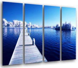 Obraz ścienny - Puchar na jeziorze Eisliee, 131 x 62 cm, druk drewniany - format XXL - druk artystyczny, ref.26440
