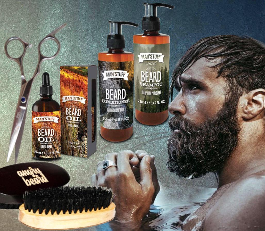 Man''stuff Zestaw DO BRODY Szczotka Nożyczki Angry Beard