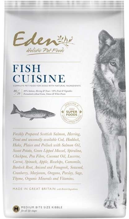 Eden holistic Fish Cusine Medium & Large breed 12kg