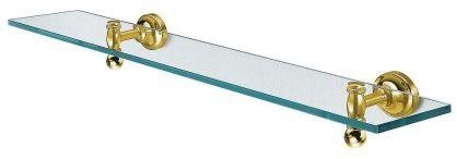 PERLA półka szklana 600 mm złoto RETRO