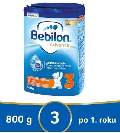 Bebilon 3 Pronutra Advance mleko modyfikowane powyżej 1. roku 800 g