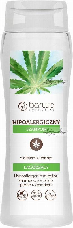 BARWA - Micellar Shampoo - Hipoalergiczny szampon łagodzący z olejem z konopi - Łuszcząca skóra głowy - 400 ml