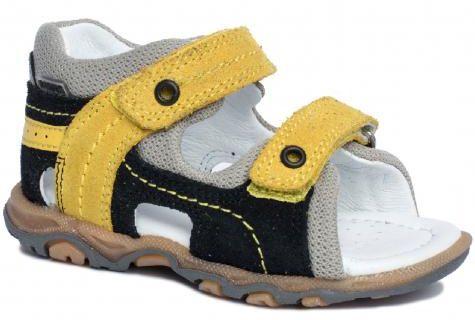 Bartek Baby 11848/7 - W35 sandałki sandały profilaktyczne dla dzieci czarny żółty
