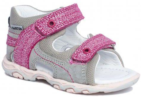 Bartek Baby 11848/7 - 55T sandałki sandały profilaktyczne dla dzieci szary fuksja