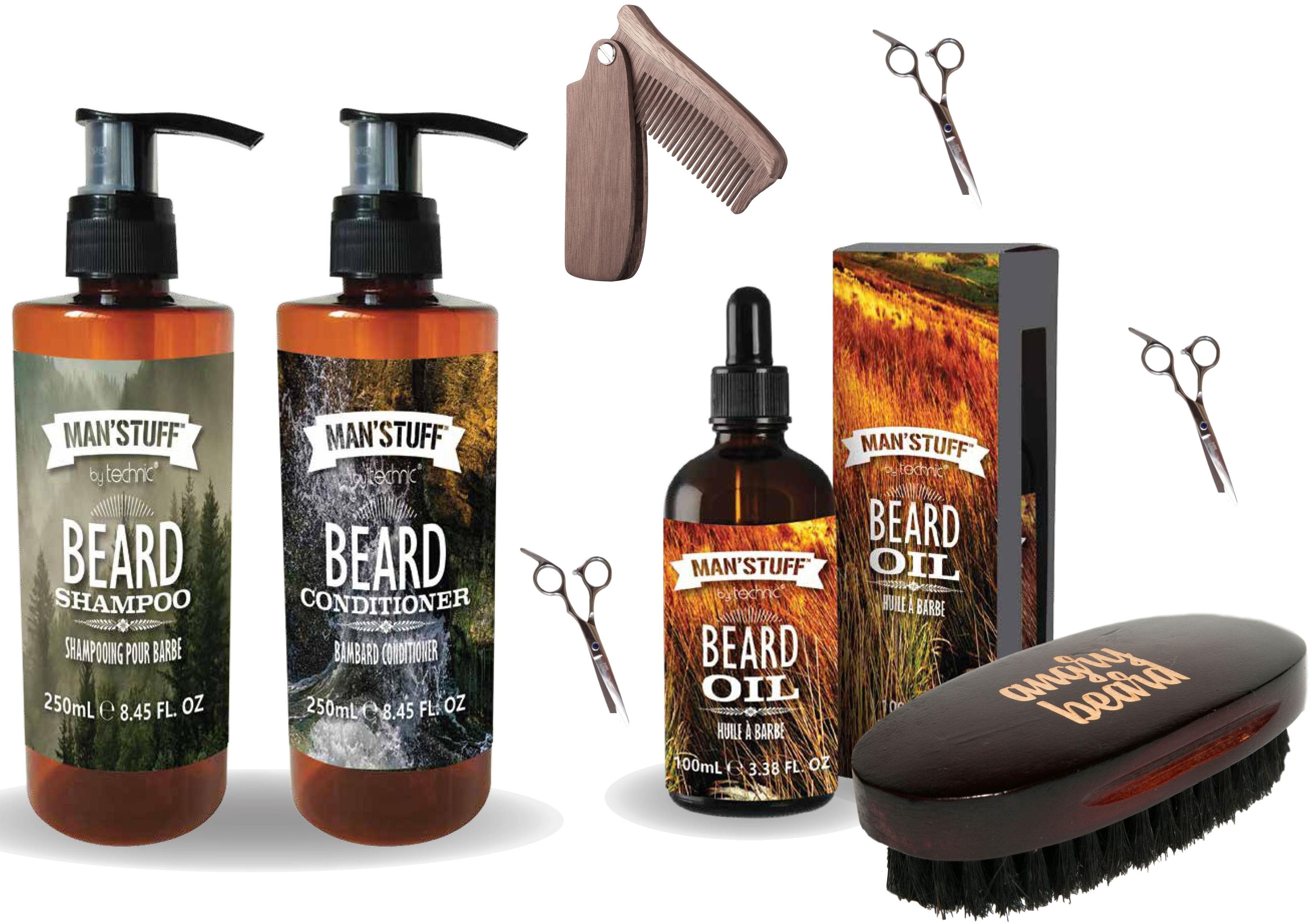 Zestaw Do Brody Man''stuff + Nożyczki Grzebień Angry Beard