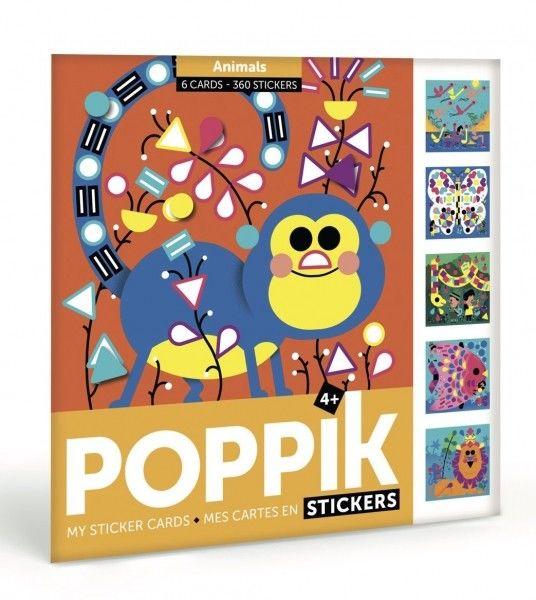 Poppik - Pocztówki Wyklejanka Pixel art Zwierzęta my Sticker Cards Animals