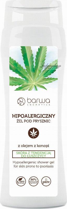 BARWA - Shower Gel - Hipoalergiczny żel pod prysznic z olejem z konopi - Skóra z tendencją do łuszczycy - 400 ml