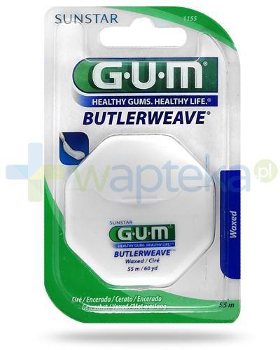 GUM Butlerweave Waxed nić dentystyczna 55 m