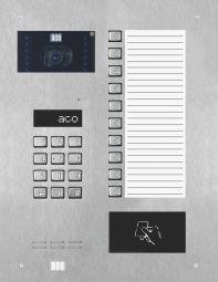 INSPIRO 900 Wideodomofon cyfrowy z zamkiem szyfrowym, czytnikiem zbliżeniowym, 10 przyciskami oraz dużą listą opisową