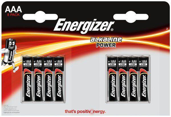 Baterie alkaliczne Energizer Alkaline Power LR03/AAA 8 sztuk