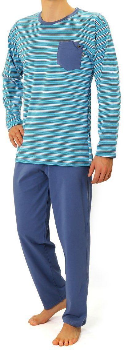 Bawełniana piżama męska Sesto Senso 02 K67ZC