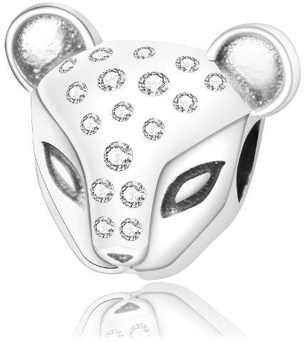 Rodowany srebrny charms do pandora głowa kota cat kotek cyrkonie srebro 925 NEW226