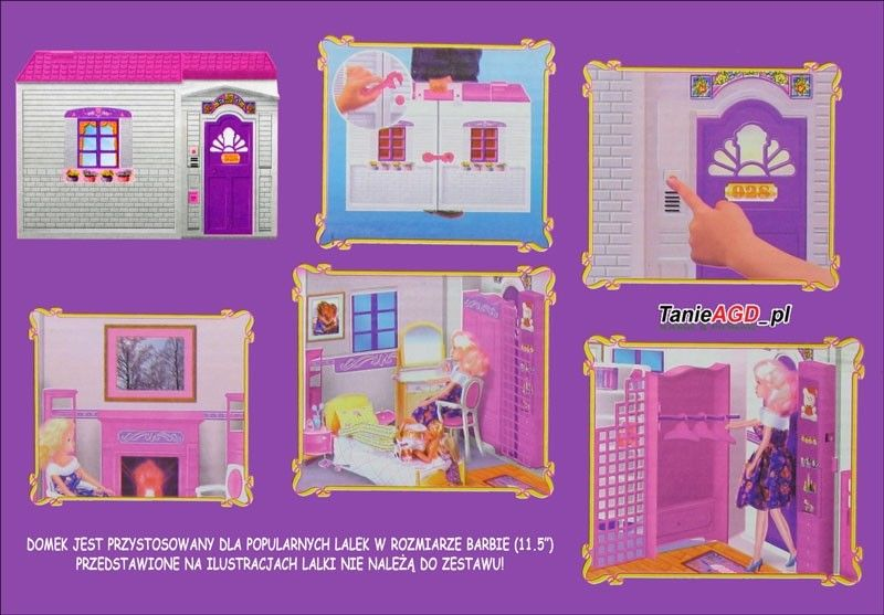 Domek dla lalek typu Barbie
