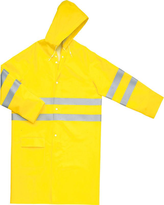 Płaszcz roboczy przeciwdeszczowy ostrzegawczy MA605