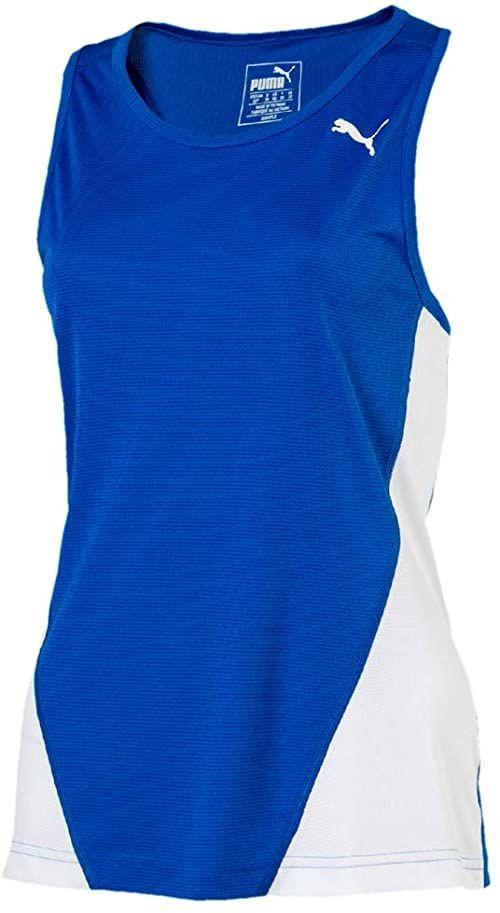 Puma Tank Top Cross the Line Singlet W koszulka dla dorosłych, uniseks niebieski Team Power Blue-puma White 164