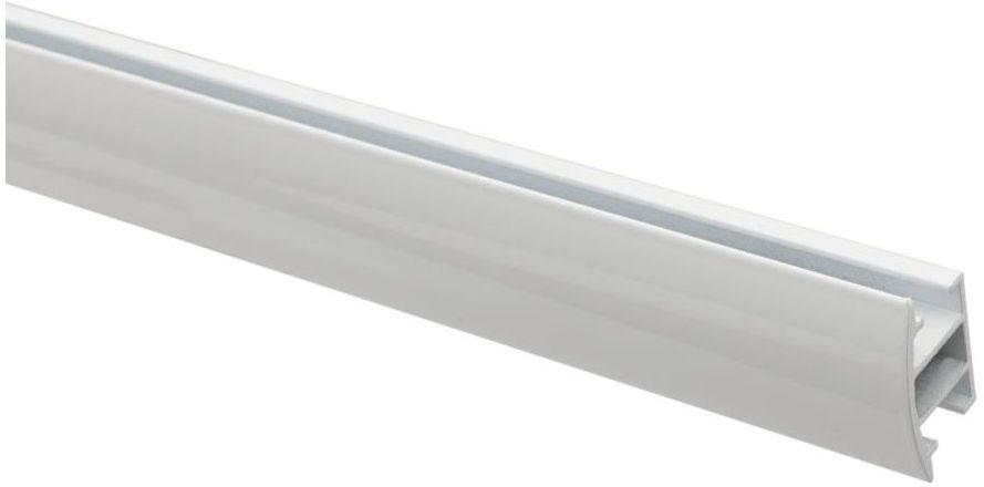 Profil szyna sufitowa 200 cm biały aluminiowy 20 mm płaski